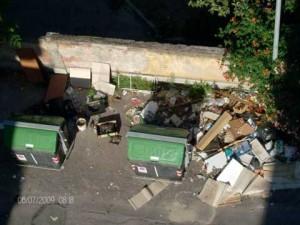 la discarica di via Bergamo