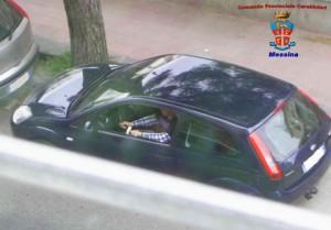 un fotogramma fornito dai carabinieri