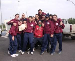 Gli atleti della Pallamano Amaranto