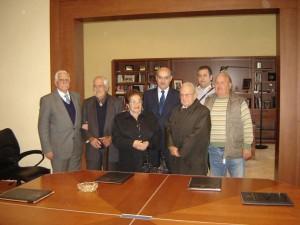 Da sinistra Missineo, Caporale, i coniugi Carmina, Andrea e Giuseppe Provazza