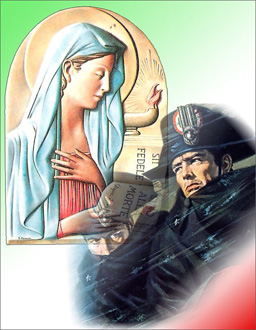 """La cartolina """"Virgo Fidelis"""""""