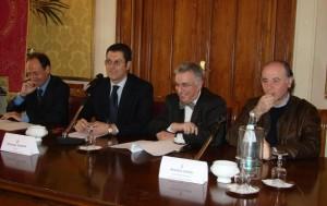 Da sinistra: La Scala, Scopelliti, Latella, Raffa