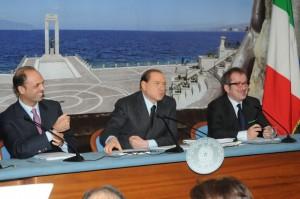 Alfano, Berlusconi e Maroni