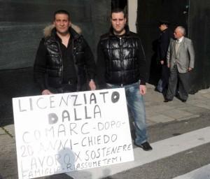 La protesta dell'ex dipendente Comarc