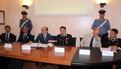 Da sx: Miulli, Valerio, Cafiero De Raho, Falferi, Piasentin, Cinnirella