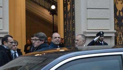 Angelino Alfano e il prefetto Claudio Sammartino