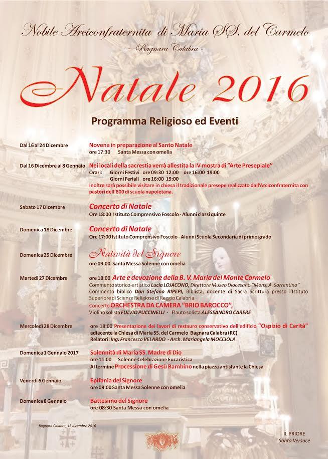 Menu Di Natale Calabrese.Bagnara Calabria Il Programma Delle Feste Natalizie Dell