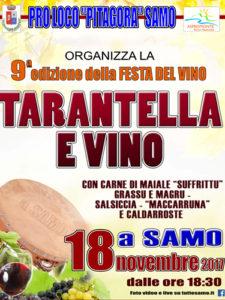 Locandina della Festa del vino di Samo