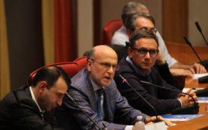 Giornata mondiale dell'Infanzia e l'Adolescenza a Palazzo Campanella, il tavolo dei relatori