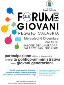 "Locandina ""Forum dei giovani"""