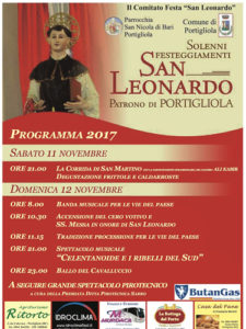 Locandina Festa San Leonardo, Portigliola