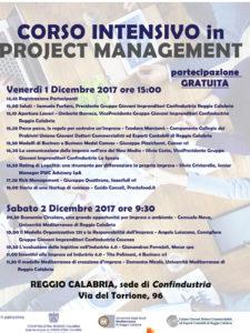 Locandina corso Project Management