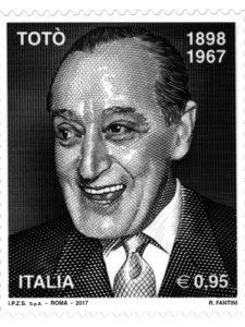 Francobollo commemorativo Antonio De Curtis, in arte Totò
