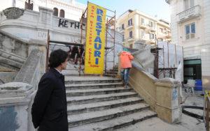 Pulizia scalinata Piazza Camagna