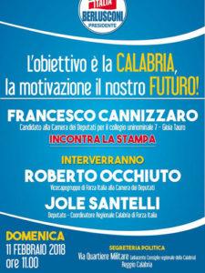 Locandina presentazione candidatura di Francesco Cannizzaro (FI)