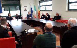 San Luca. Il Prefetto Michele di Bari nell'aula consiliare del Comune