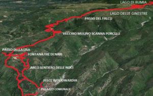 San Roberto. Sentiero di Passo del Falco