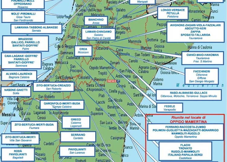 La mappa del mandamento tirrenico della 'ndrangheta a Reggio Calabria