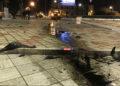 """Pauroso incidente stradale nella notte: auto """"atterra"""" in piazza Mino Reitano (FOTO) 8"""