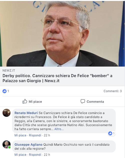 Possibile candidato sindaco, il centrodestra è poco De Felice