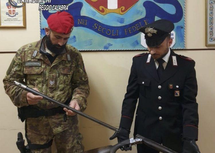 Carabinieri fucile sequestrato